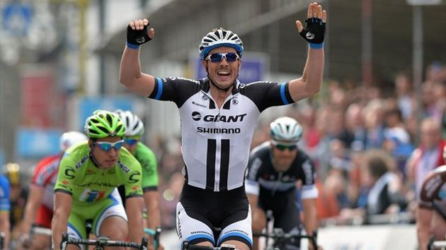 John Degenkolb sprints to win the Gent-Wevelgem (AFP)