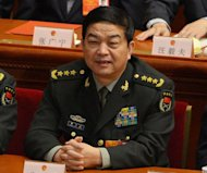 Newly-elected Chinese Defense Minister Chang Wanquan attends the 12th National People's Congress (NPC) at the Great Hall of the People in Beijing, on March 16, 2013.