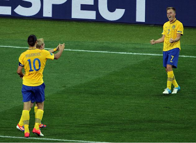 Sebastian Larsson (R) Of Sweden Celebrates Getty Images