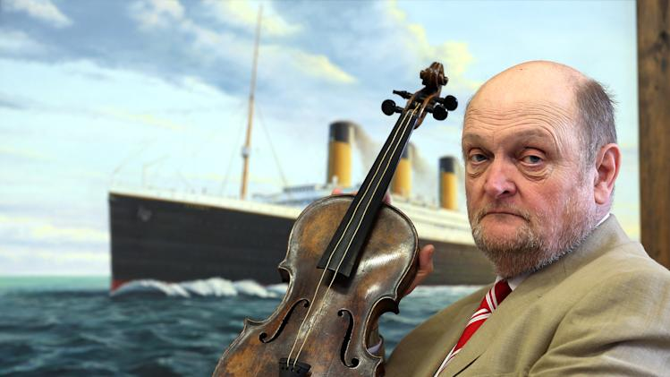 Titanic Violin Goes On Display To The Public