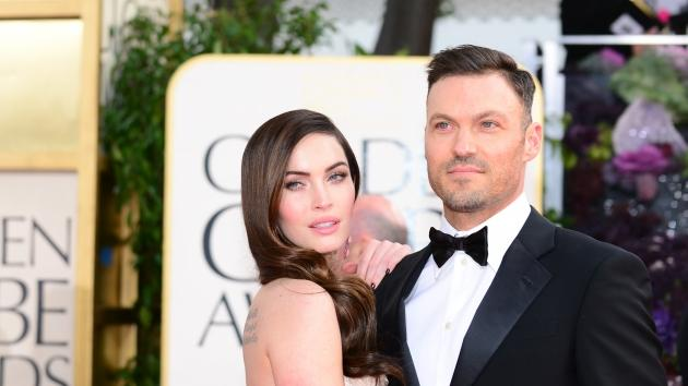 Megan Fox and Brian Austin Green arrive at the Golden Globe awards ceremony in Beverly Hills in Beverly Hills, Calif., on January 13, 2013 -- Getty Premium
