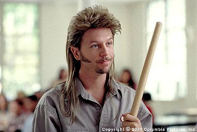 Emmy Award-nominated actor/comedian David Spade stars as janitor Joe Dirt in the Columbia Pictures presentation, Joe Dirt