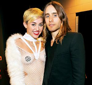 "Miley Cyrus, Jared Leto ""Are Hooking Up,"" Love Talking Art, Music"