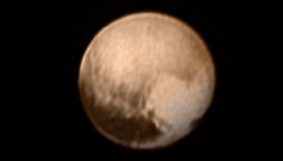 Heart-shaped feature viewed on Pluto's surface