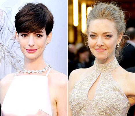 "Anne Hathaway Threw ""a Fit"" Over Amanda Seyfried's Oscar Dress During Rehearsal"