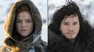 Rose Leslie as Ygritte, Kit Harington as Jon Snow in 'Game of Thrones' Season 2 -- Helen Sloan/HBO