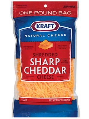 Kraft Natural Shredded Sharp Cheddar Cheese