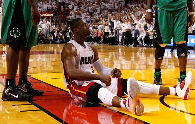 Dwyane Wade #3 Of The Miami Heat Reacts  Getty Images