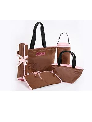 Personalized 5-Piece Diaper Bag Set