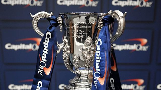 Detail of the Capital One Cup trophy (PA Photos)