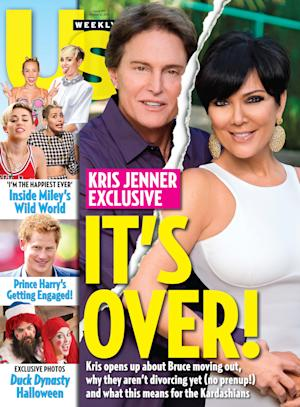 This cover image released by US Weekly shows the exclusive announcement about the break-up of celebrity couple Bruce Jenner and Kris Jenner. The couple confirmed they've split and have been separated for a year. (AP Photo/US Weekly)