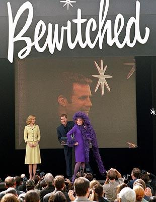 Nicole Kidman as Samantha, Will Ferrell as Darrin and Shirly MacLaine as Endora in Columbia's Bewitched