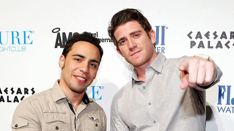 "Victor Rasuk and Bryan Greenberg of HBO's series ""How To Make It In America"" arrive at PURE Nightclub on October 8, 2011 in Las Vegas, Nevada."