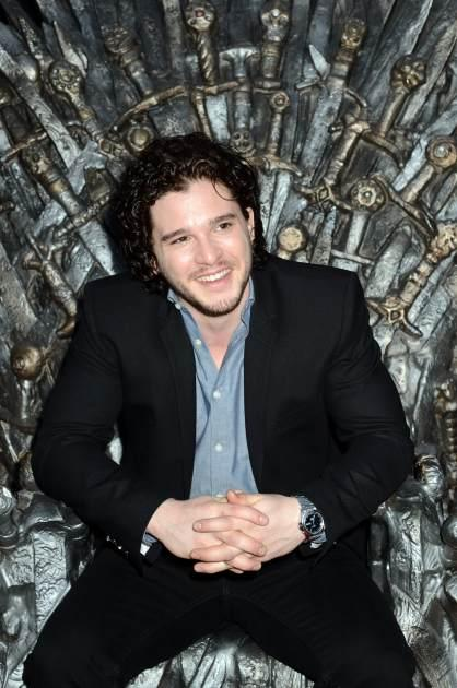 Kit Harington sits on the Iron Throne as he attends the Academy of Television Arts & Sciences an evening with HBO's 'Game Of Thrones' at TCL Chinese Theatre on March 19, 2013 -- Getty Images