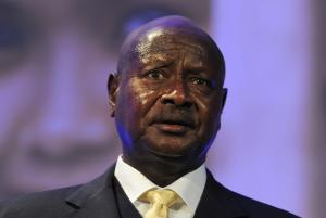FILE - In this July 11, 2012 file photo, Ugandan President …
