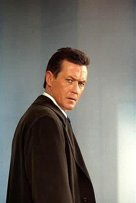 "Agent John Doggett (Robert Patrick, R) in the ""Via Negativa"" episode of Fox's The X-Files X-Files"