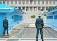 South Korean soldiers face North Korean side at the truce village of Panmunjom in the Demilitarised Zone (DMZ), on April 23, 2013. S.Korea on Saturday said the North had agreed to hold working-level talks on Sunday in Panmunjom, following months of soaring tensions and threats of nuclear war
