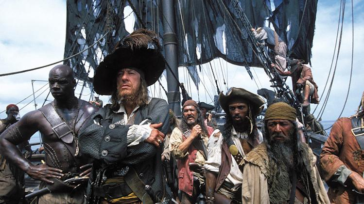 Pirates of the Caribbean The Curse of the Black Pearl 2003 Walt Disney Pictures Geoffrey Rush