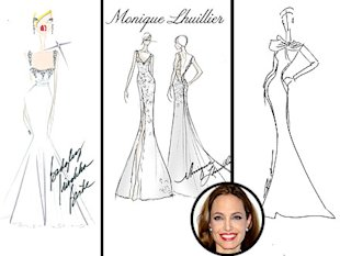 Angelina Jolie's Wedding Gown: Badgley Mischka, Monique Lhuillier and Reem Acra Sketch Their Dream Dress