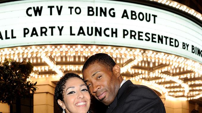 "Cress Williams of ""The Secret Circle"" (right) and guest Alice Issac attend The CW Fall Premiere party presented by Bing at Warner Bros. Studios on September 10, 2011 in Burbank, California."