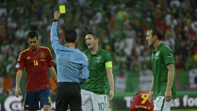 Irish Forward Robbie Keane (C) Is AFP/Getty Images