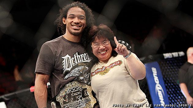 Benson Henderson vs. Nate Diaz (Credit: Tracy Lee for Yahoo! Sports)