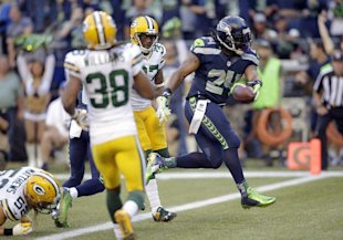 Marshawn Lynch opened the season with a 110 yard effort against the Packers. (AP)