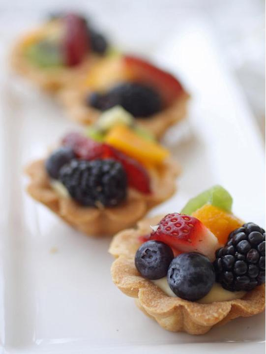Champagne-Glazed Fruit Tarts