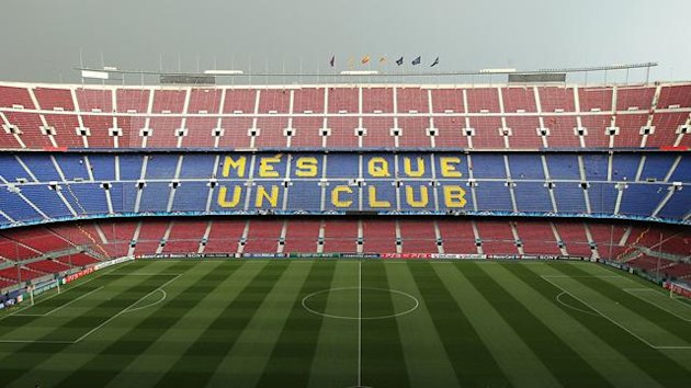 General view of the Nou Camp, home to Barcelona