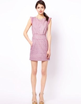 You'll be pretty in pink with this feminine frock.
