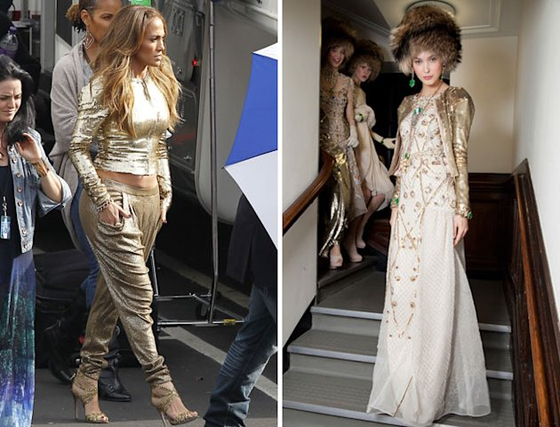 Move Over Kate Middleton: Jennifer Lopez Turns Temperley's Gold Sequin Jacket into a Ghetto Fabulous Gem