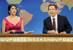 Cecily Strong, Seth Meyers | Photo Credits: Dana Edelson/NBC