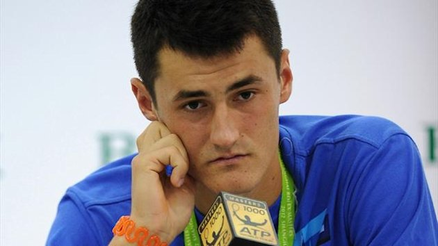 "Bernard Tomic admitted to giving just ""85 per cent"" during his 6-4 6-0 defeat against Florian Mayer at the Shanghai Masters (AFP)"
