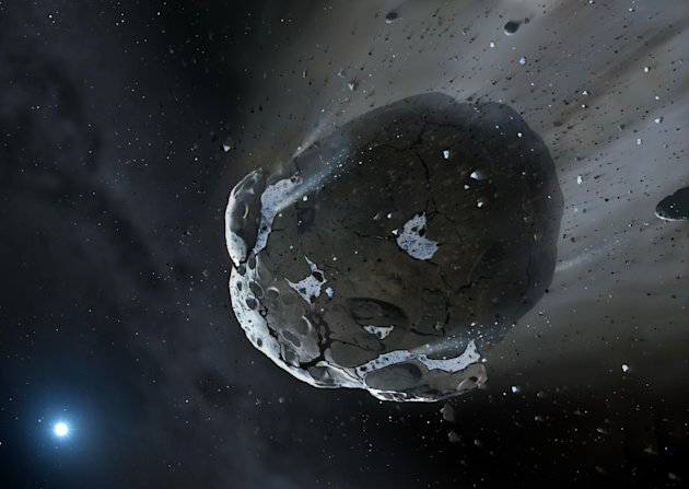 Una ilustración de un asteroide. (Warwick & Cambridge Universities/AFP/Archivos | Mark A. Garlick)