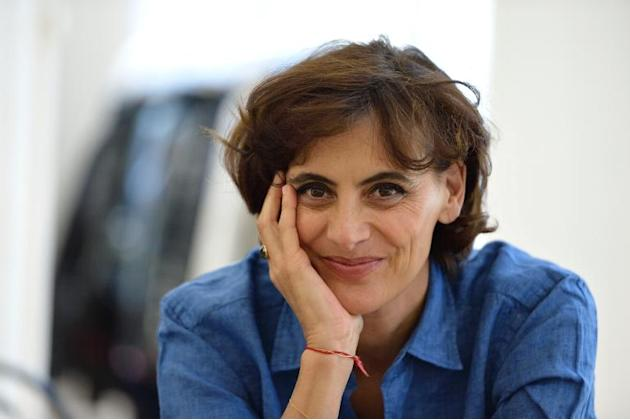 French fashion icon Ines de la Fressange poses in Paris on April 9, 2014