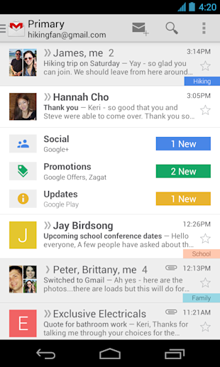 Gmail Gets More Organized image Gmail Mobile Upgrade