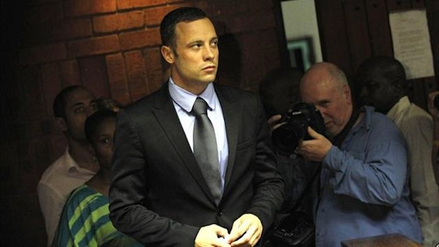 Oscar Pistorius at Pretoria magistrates court (Reuters)