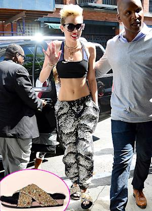 Miley Cyrus' Fur-Lined Celine Sandals: Are They Worth $910?