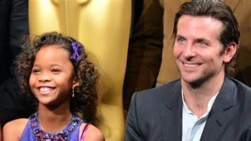 Quvenzhane Wallis All Smiles Next to Bradley Cooper