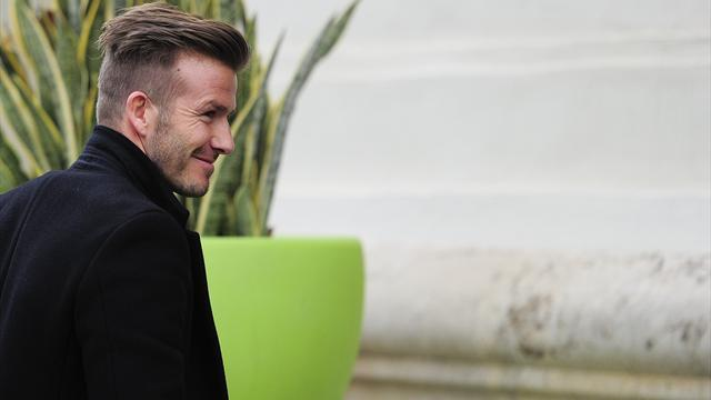 Ligue 1 - Beckham meets PSG team mates in Valencia