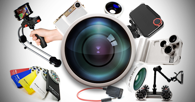 From lenses that stick over your camera to remote controls to trigger your camera, there are a lot of gizmos that can smarten up phone pictures.