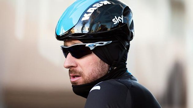 MALLORCA, SPAIN - FEBRUARY 04: Sir Bradley Wiggins of Great Britain prepares for a training ride on a Team SKY Training Camp Media Day on February 4, 2014 in Mallorca, Spain. (Photo by Bryn Lennon/Getty Images)