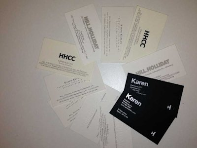 karen kaplan hill holliday business cards