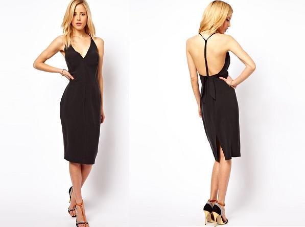 Bow Back Sexy Midi Dress