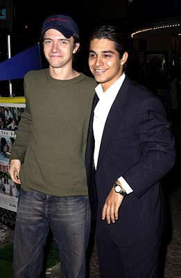 Premiere: Topher Grace and Wilmer Valderrama at the Westwood premiere of Warner Brothers' Summer Catch - 8/22/2001