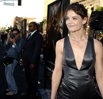 Katie Holmes at the Hollywood premiere of Warner Bros. Pictures' Batman Begins