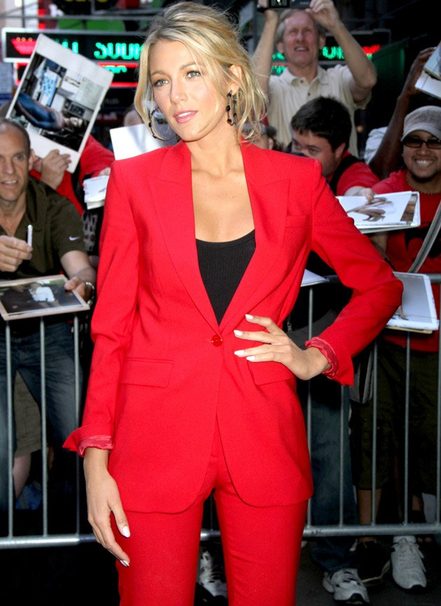 Blake Lively, trouser suit