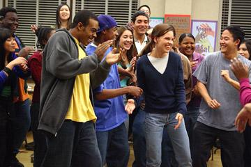 Mario , Deance Wyatt and Hilary Swank in Paramount Pictures' Freedom Writers