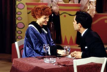 "Rachel York as Lucille Ball and Daniel Pino as Desi Arnaz CBS' ""Lucy"" - 2003 I Love Lucy"