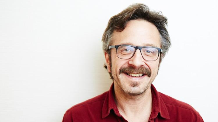 "This April 11, 2013 photo shows comedian Marc Maron in New York. Maron stars in the new IFC comedy ""Maron,"" premiering Friday, May 3 at 10 p.m. (Photo by Dan Hallman/Invision/AP)"
